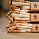 Folded & Packaged Gingerbread Man Tea Towel - Frog and Gnome