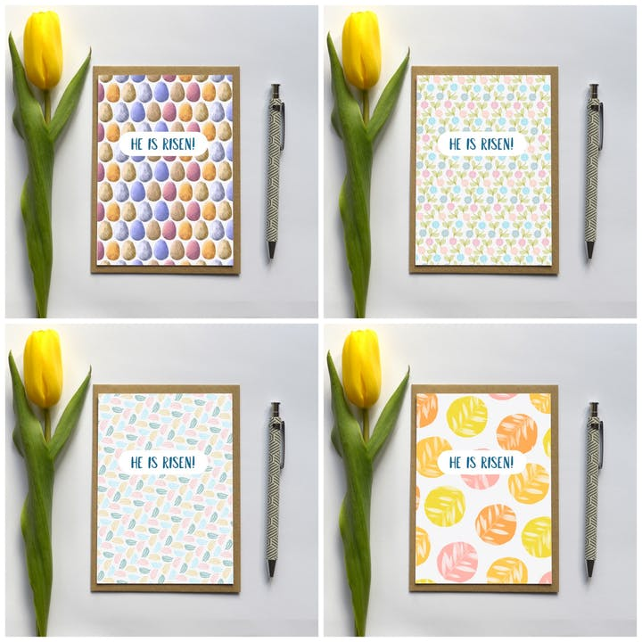 He Is Risen Easter Cards - Set of 4 - Frog and Gnome