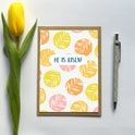 Leaves He Is Risen Easter Card - Frog and Gnome