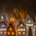 Lit Up Christmas Paper Houses - Frog and Gnome