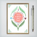 Love is Gentle and Kind Greeting Card - 1 Corinthians 13 - Frog and Gnome