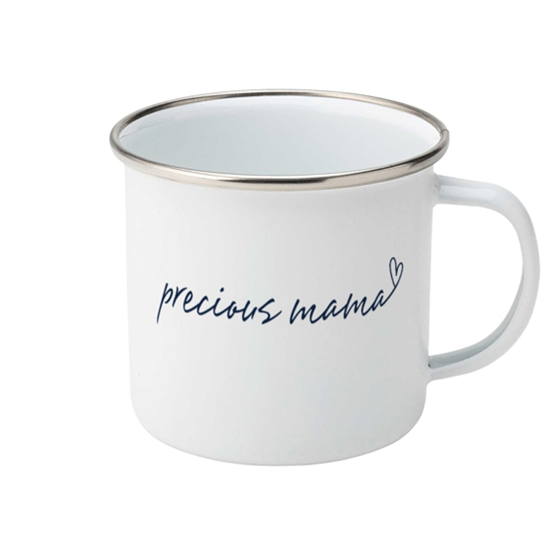 Precious Mama Enamel Cup | Christian Mugs | Cheerfully Given - Christian Gifts UK