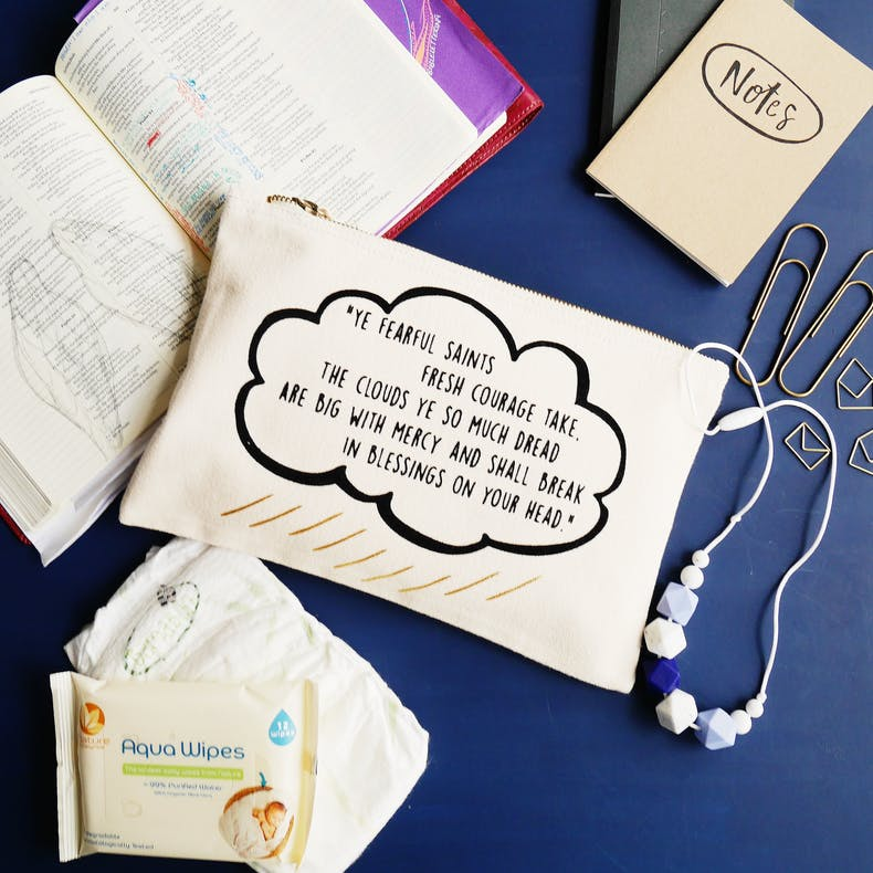 Blessings on your head Christian Pouch | Grizzli Bear | Cheerfully Given