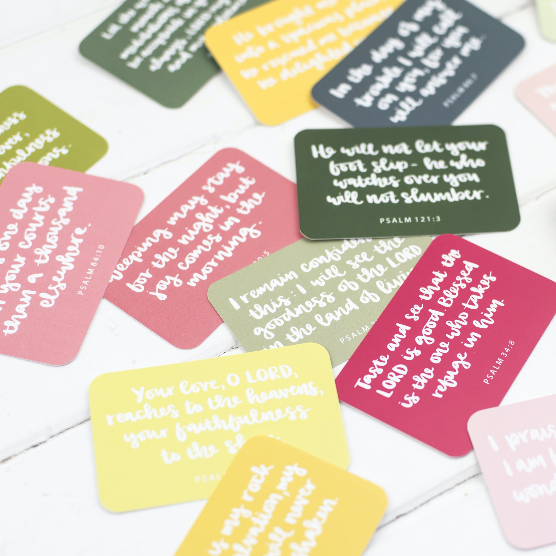15 Hand lettered scripture cards - Hope and Ginger