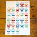 A2 Bible Alphabet Poster - Colourful - Hope and Ginger
