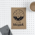 A5 Bible Alphabet Journal - B is for Blessed - Matthew 5:9 - Hope and Ginger