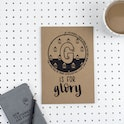 A5 Bible Alphabet Journal - G is for Glory - Isaiah 60:19 - Hope and Ginger