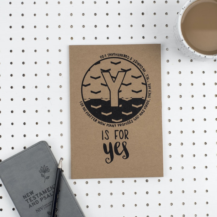 A5 Bible Alphabet Journal - Y is for Yes - 2 Corinthians 1:20 - Hope and Ginger