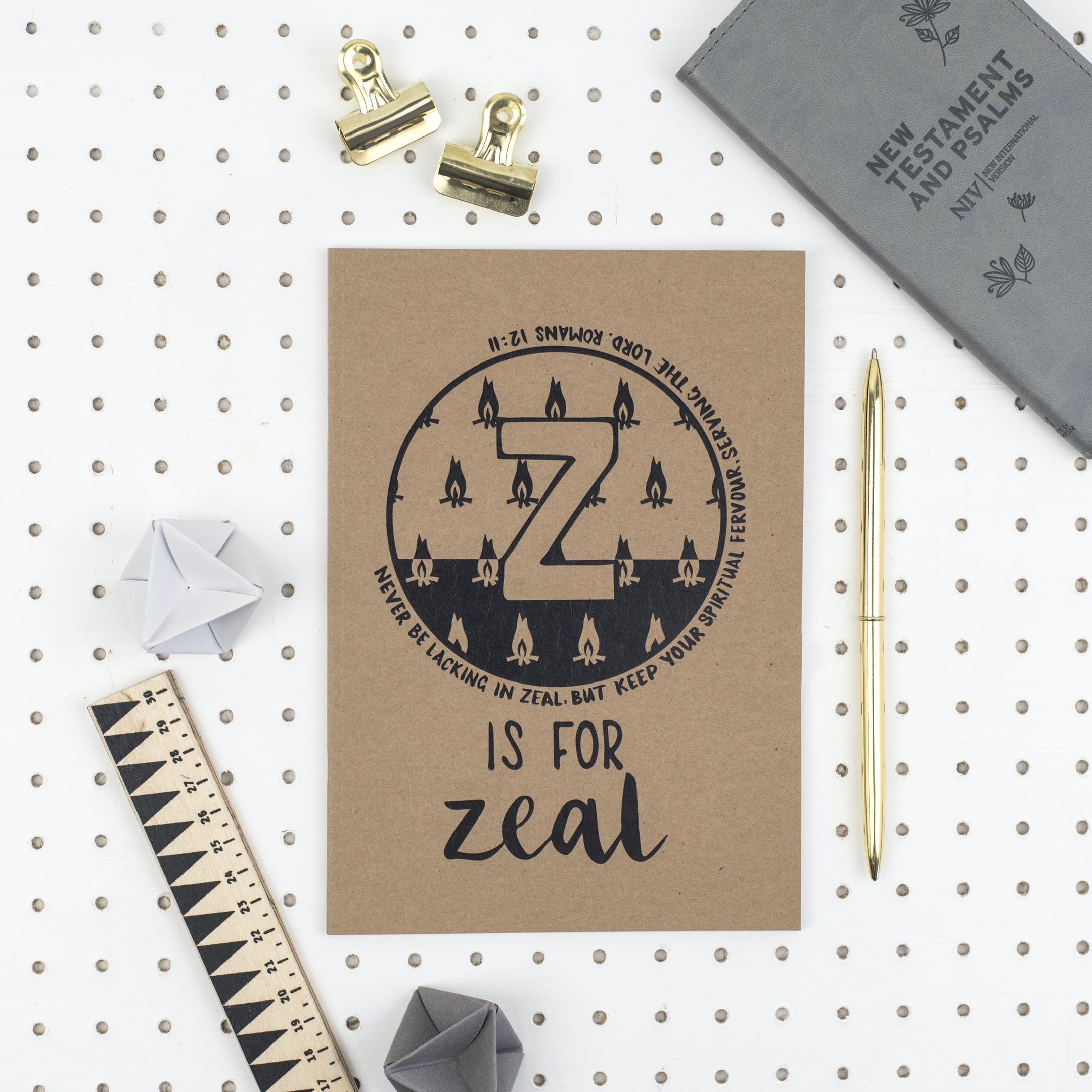 A5 Bible Alphabet Journal - Z is for Zeal - FREE UK SHIPPING - Hope and Ginger