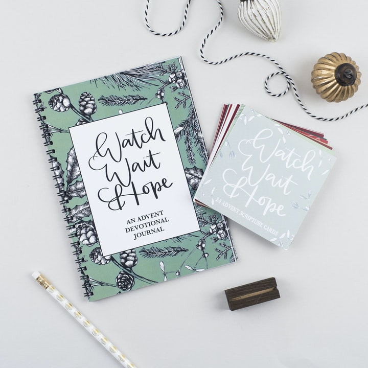 Advent Bundle of Advent Devotional Journal and Christian Advent Calendar Scripture Cards | Hope and Ginger | Cheerfully Given - Christian Advent Calendars