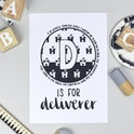 Bible Alphabet Print - Letter D Psalm 18:2 - Hope and Ginger