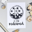 Bible Alphabet Print - Letter R - Isaiah 43:1 - Hope and Ginger