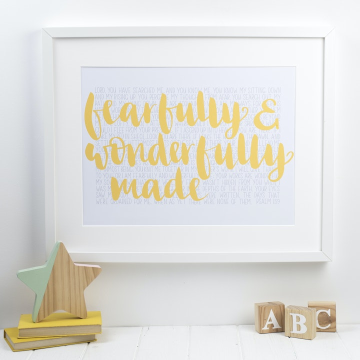 Fearfully and Wonderfully Made Print - Psalm 139 - Hope and Ginger