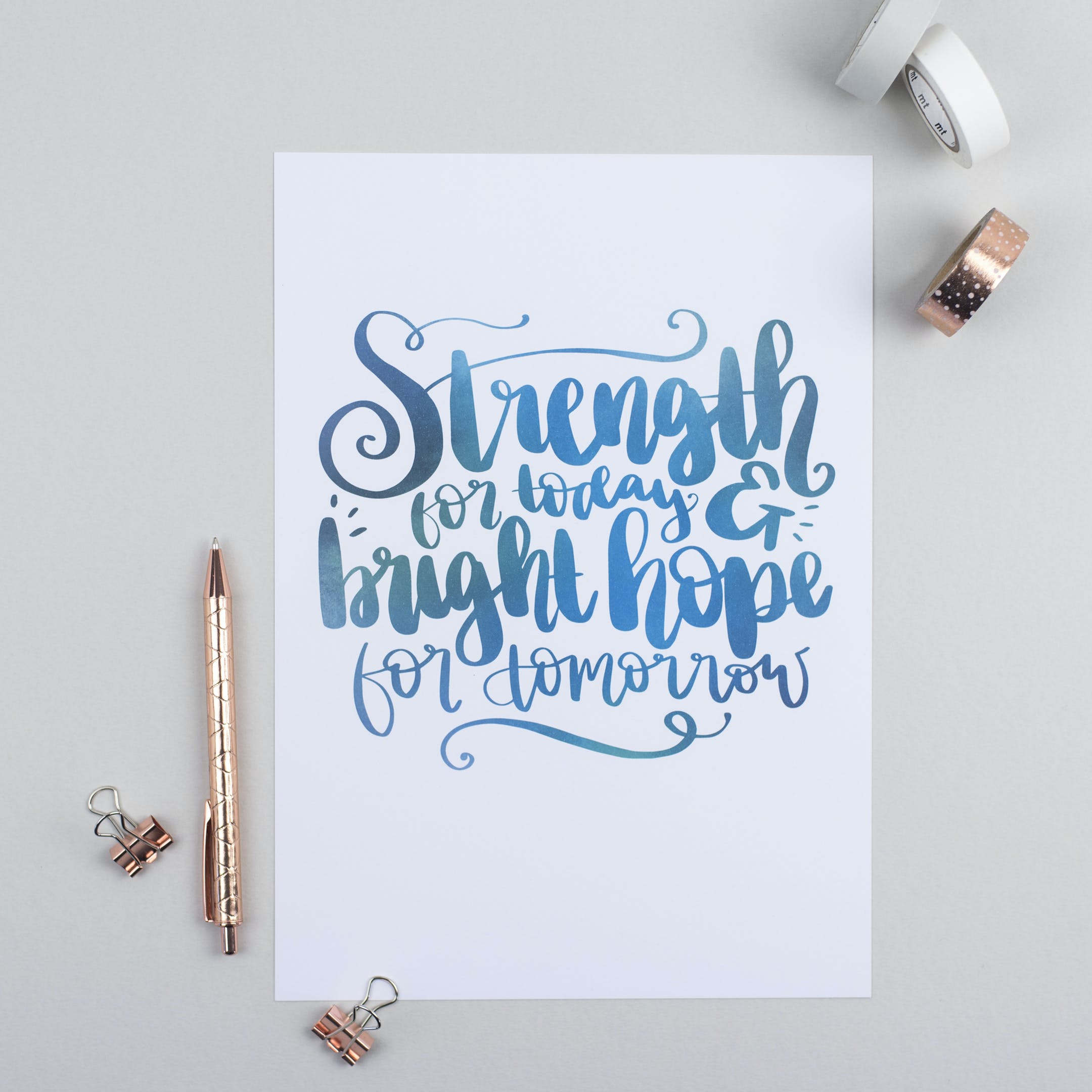 Great Is Thy Faithfulness Hymn - Strength For Today Print - Hope and Ginger