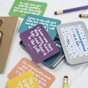 Hope and Ginger - Encouragement in a tin - hand lettered scripture cards