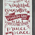 Isaiah 9:6 Christmas Tea Towel - He Shall Be Called - Hope and Ginger