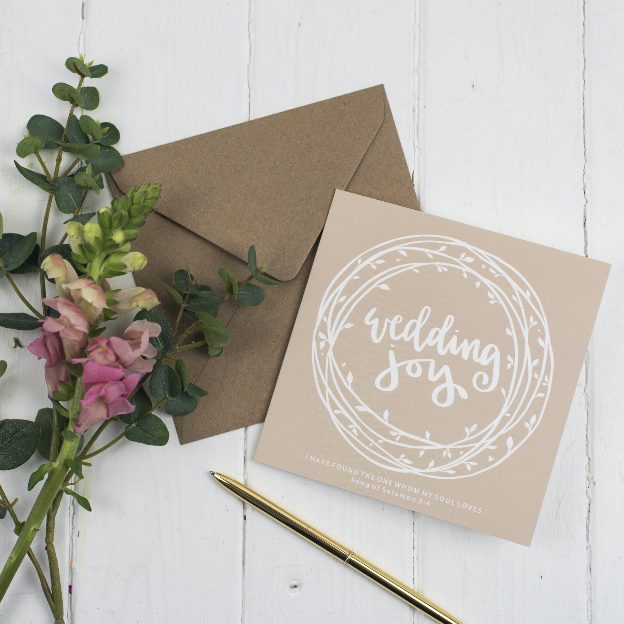 Joy Christian Wedding Cards - Song of Solomon 3:4 - Hope and Ginger   Cheerfully Given