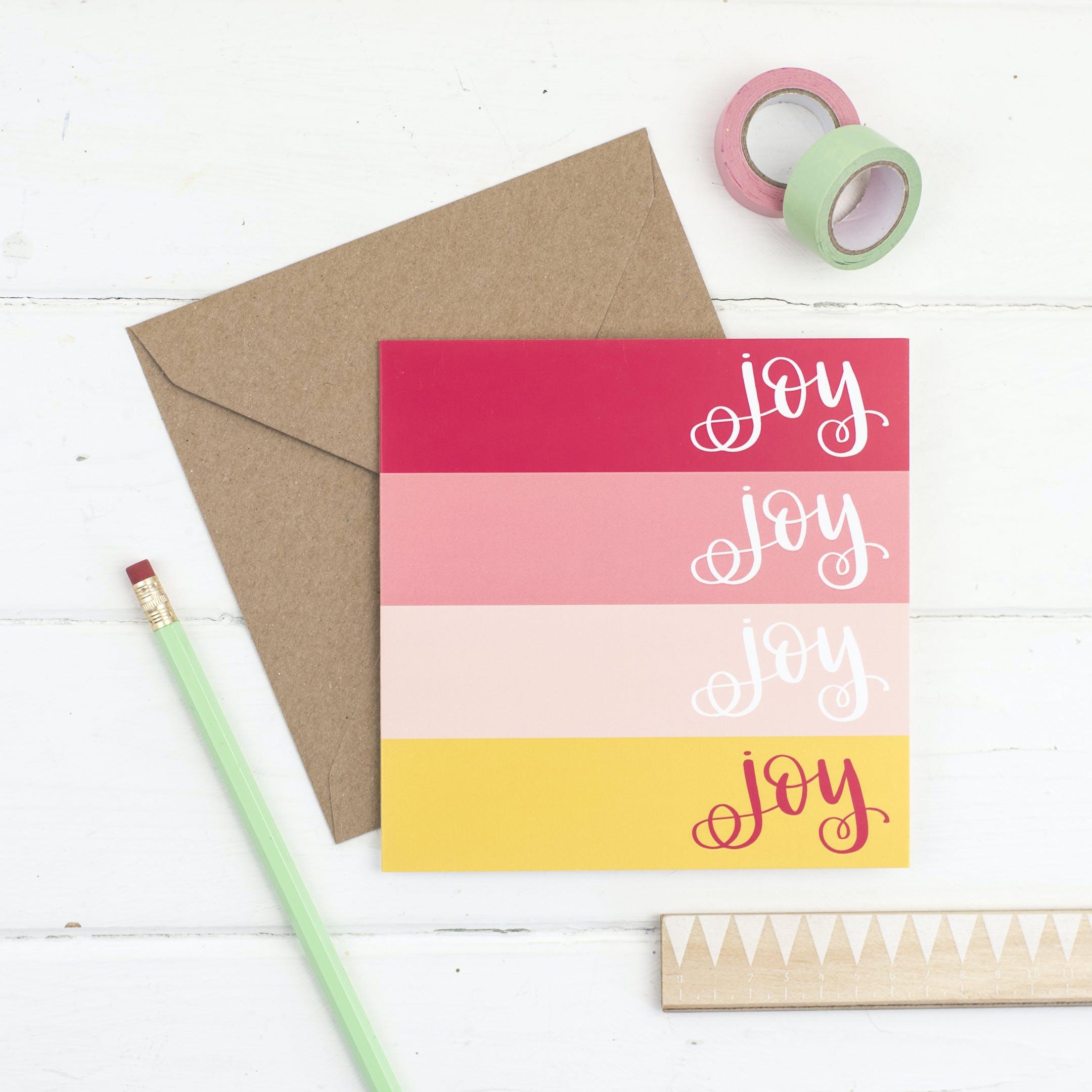 Joy Joy Joy Joy Card - Hope and Ginger