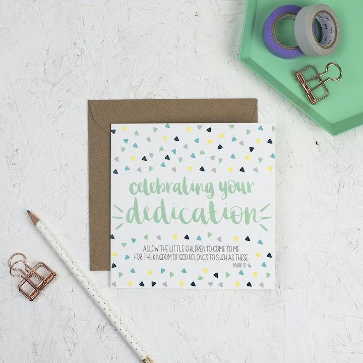 Square Dedication Card - Mark 10:14