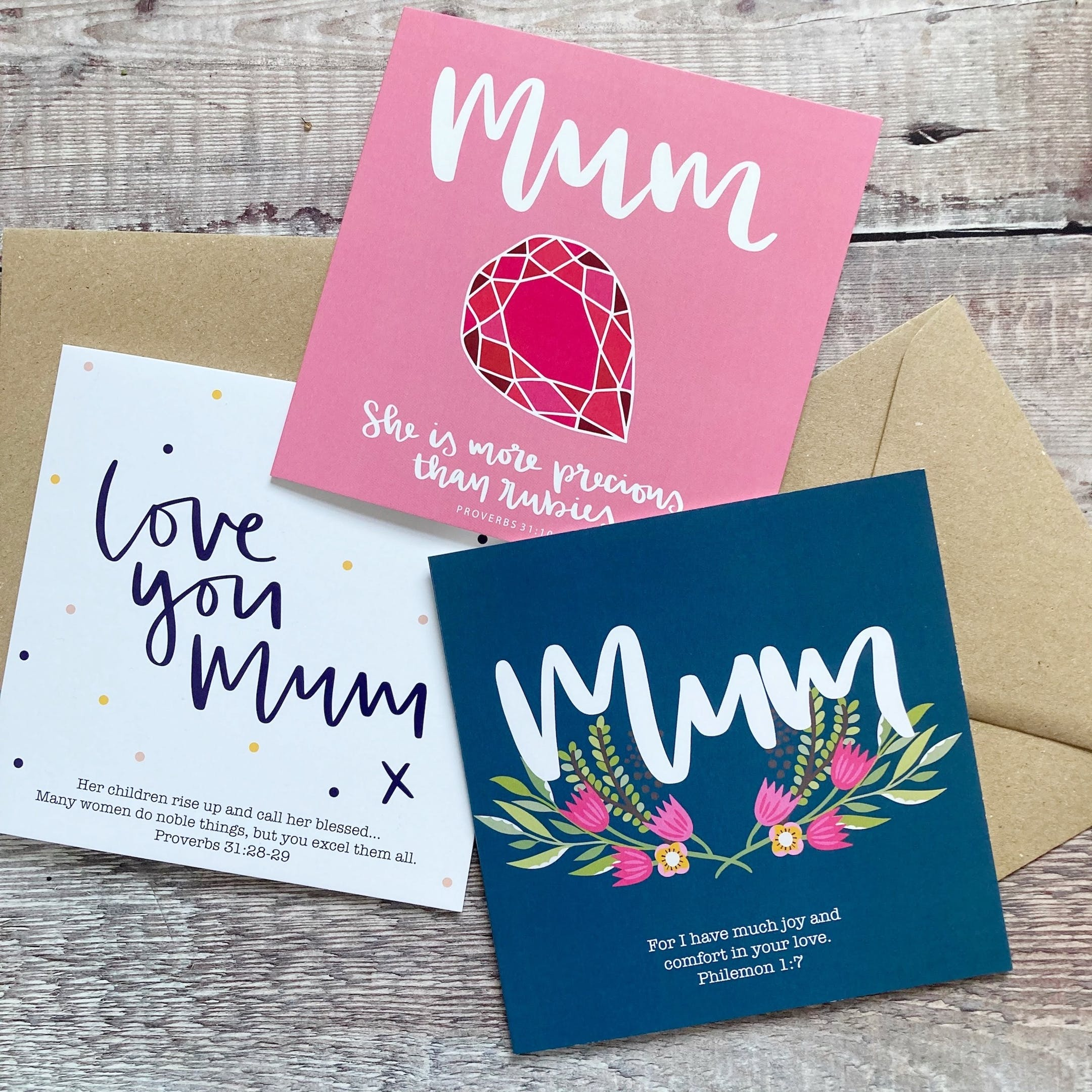 Three Christian Mother's Day Cards by Hope and Ginger at Cheerfully Given