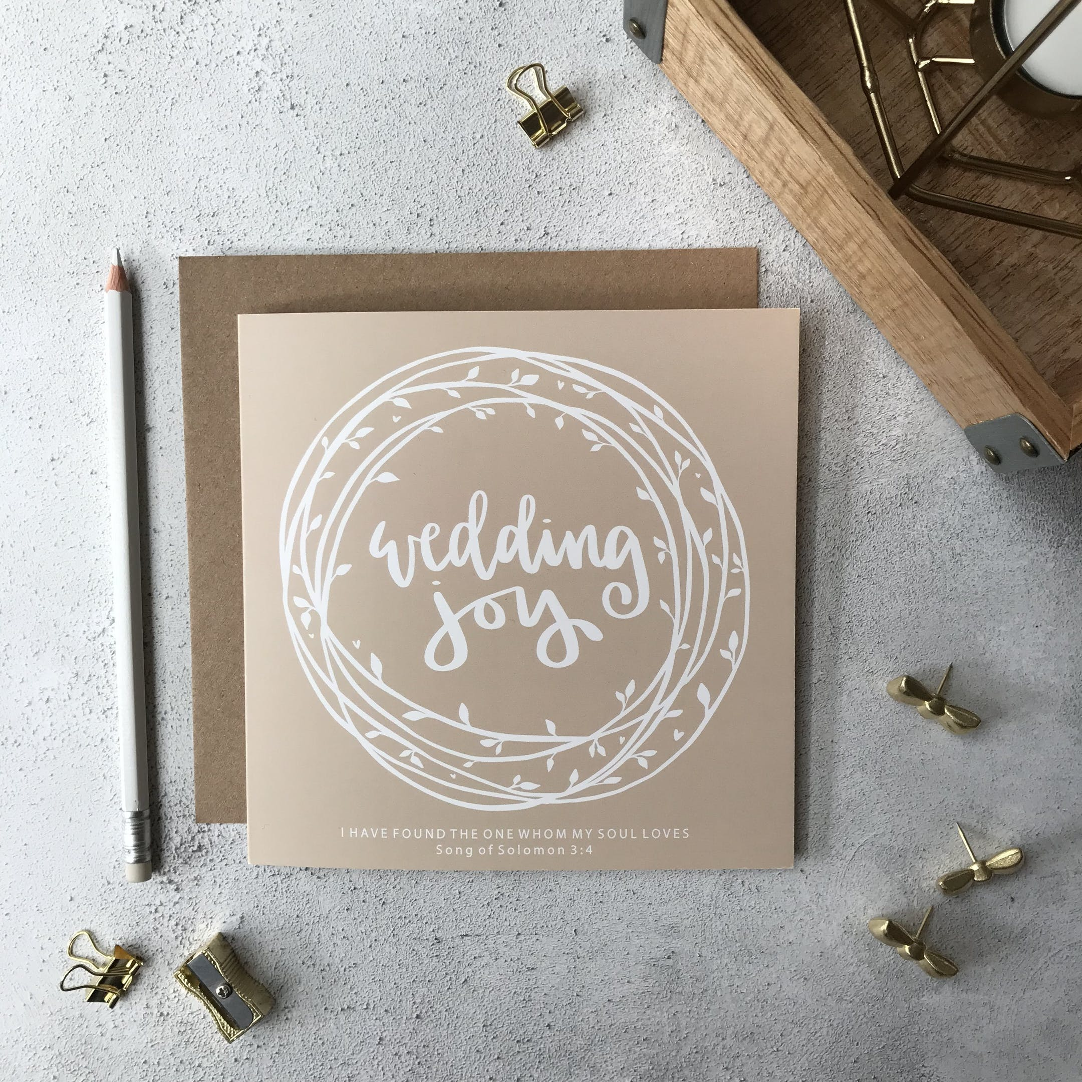 Wedding Card - Joy - Song of Solomon 3:4 - Hope and Ginger