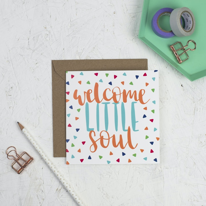 Welcome Little Soul New Baby Card - Hope and Ginger