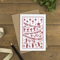 When They Saw Folk Art Christmas Card - Hope and Ginger