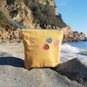 Mustard Fearfully and Wonderfully Made Handmade Makeup Bag | Hanmade in Cornwall | Cheerfully Given