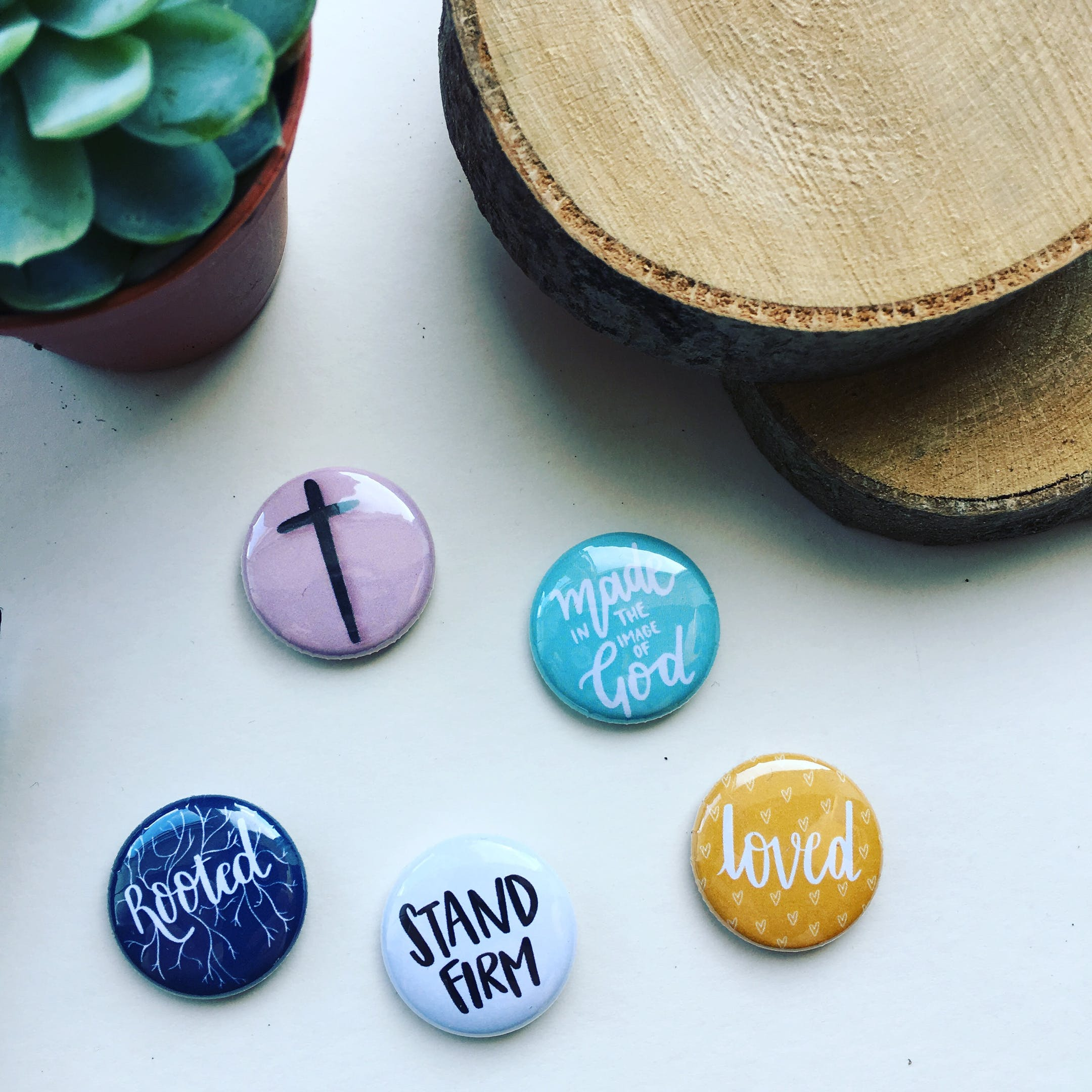 Identity Mini Christian Badges   HK Creations   Cheerfully Given