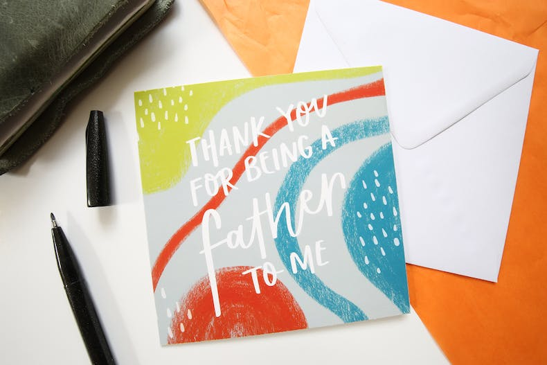Thank your for being like a father | Father's Day Card for Adoptive Fathers | HK Creations | Cheerfully Given - Christian Cards UK