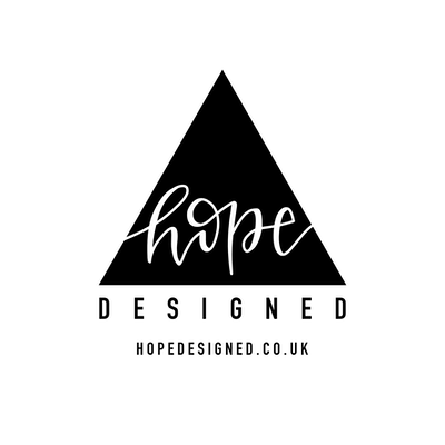 Hope Designed Logo with black triangle