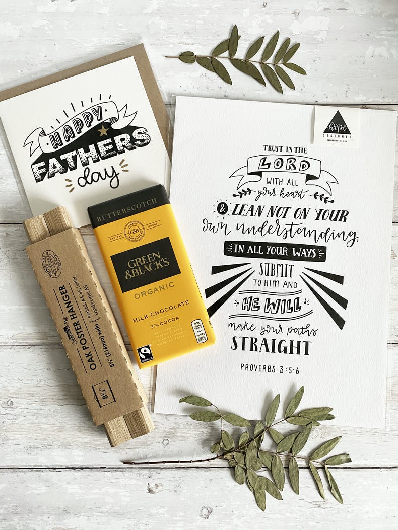 Christian Father's Day Gift Box by Hope Designed | Cheerfully Given - Christian Gifts for Men UK