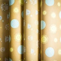 Brown kraft paper with prints | Christian Wrapping Paper
