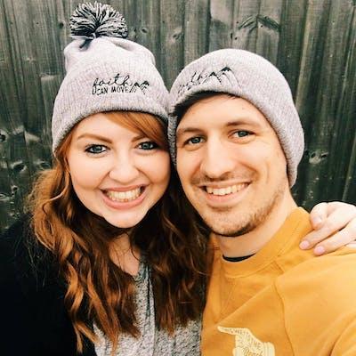 Izzy & Pop wearing faith hats | Cheerfully Given