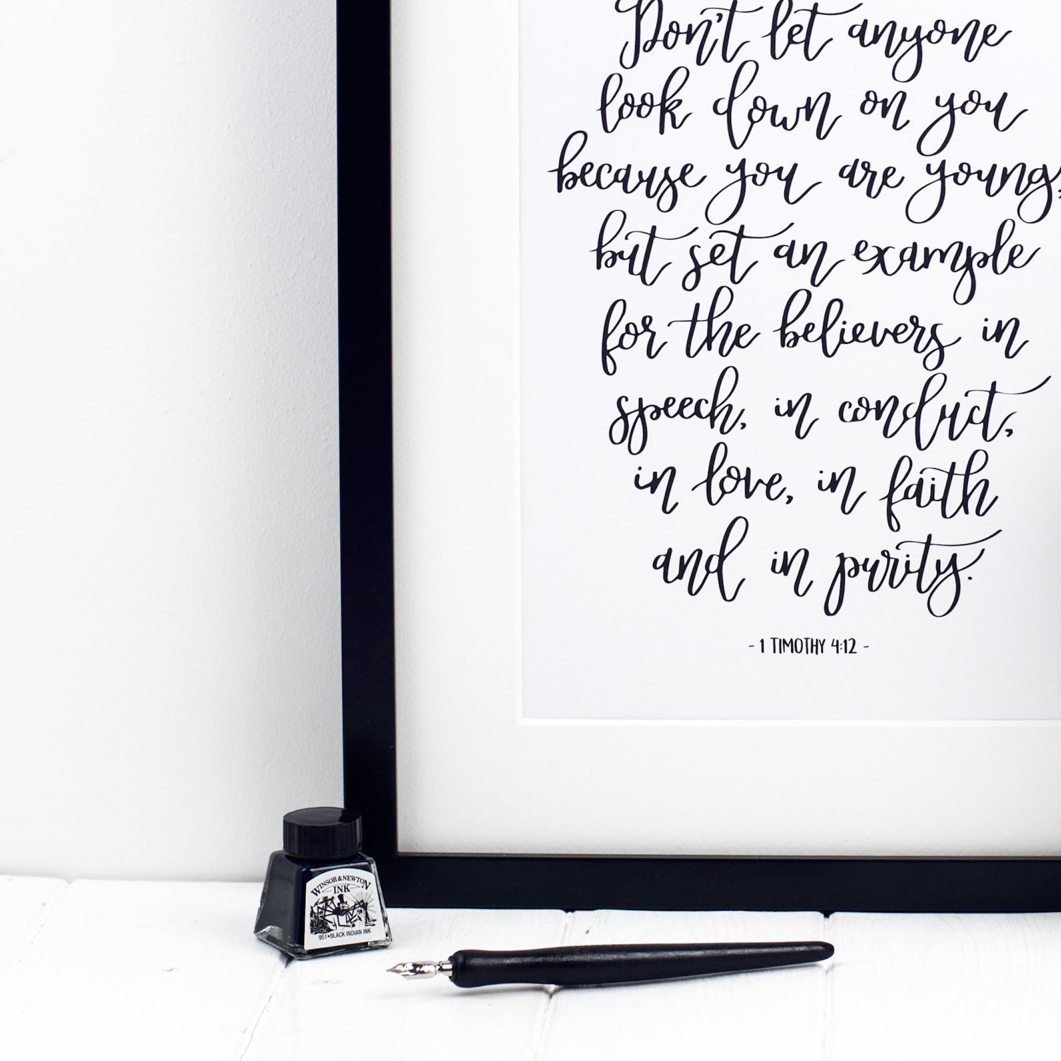 1 Timothy 4:12 Print - Don't Let Anyone Look Down On You - Izzy and Pop