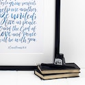 2 Corinthians 13:11 Wedding Print - We Wish You Happiness - Izzy and Pop