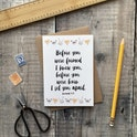 A6 Before You Were Formed, I Knew You Jeremiah 1:5 Card - Izzy and Pop