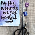 A6 By His Wounds We Are Healed Card - Isaiah 53:5 - Izzy and Pop