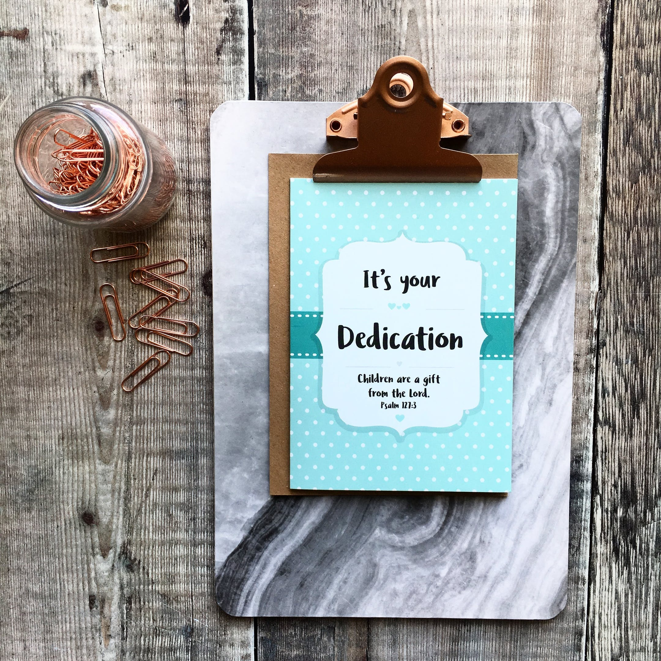 A6 Dedication Card - Izzy and Pop