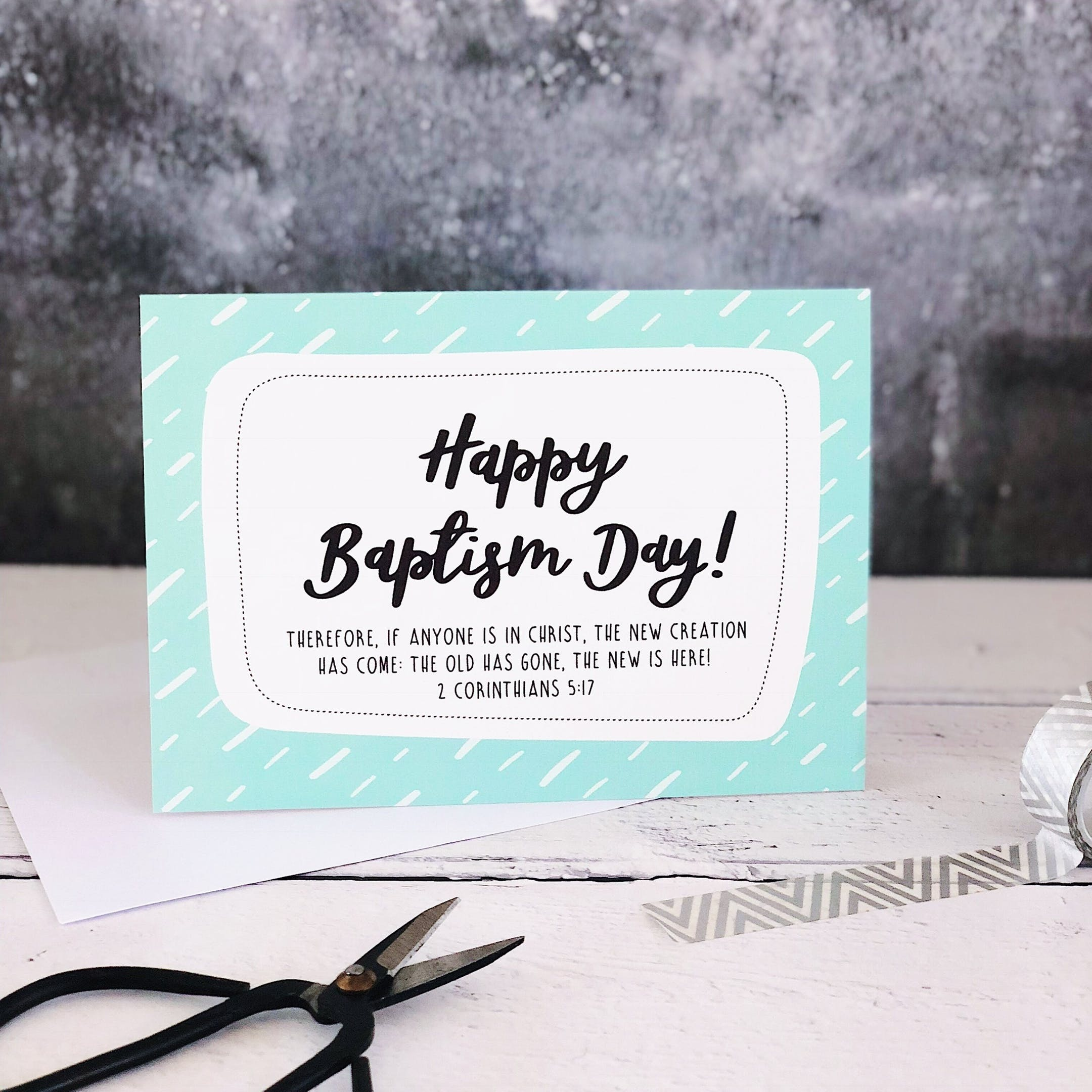 A6 Happy Baptism Day! Card - Izzy and Pop