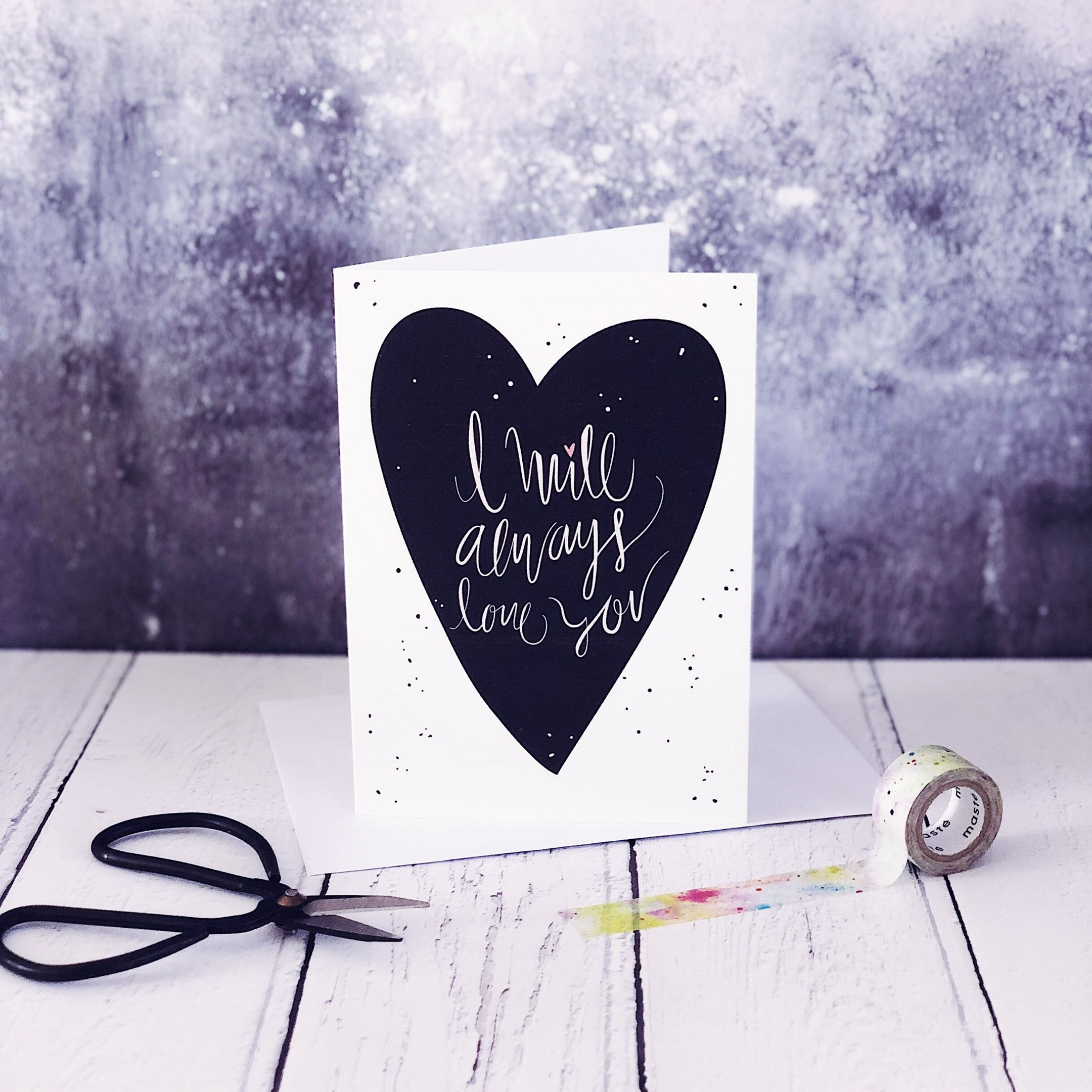 A6 I Will Always Love You Card - Izzy and Pop