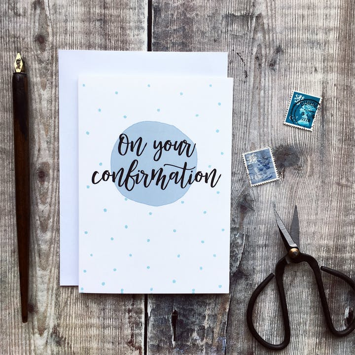 A6 On Your Confirmation Card - Izzy and Pop