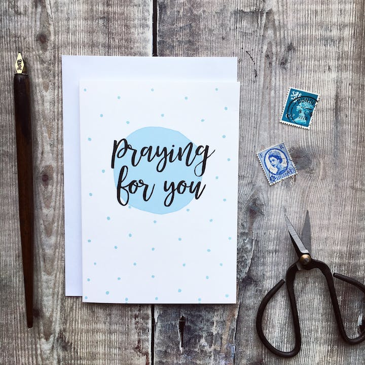 A6 Praying For You Card - Izzy and Pop