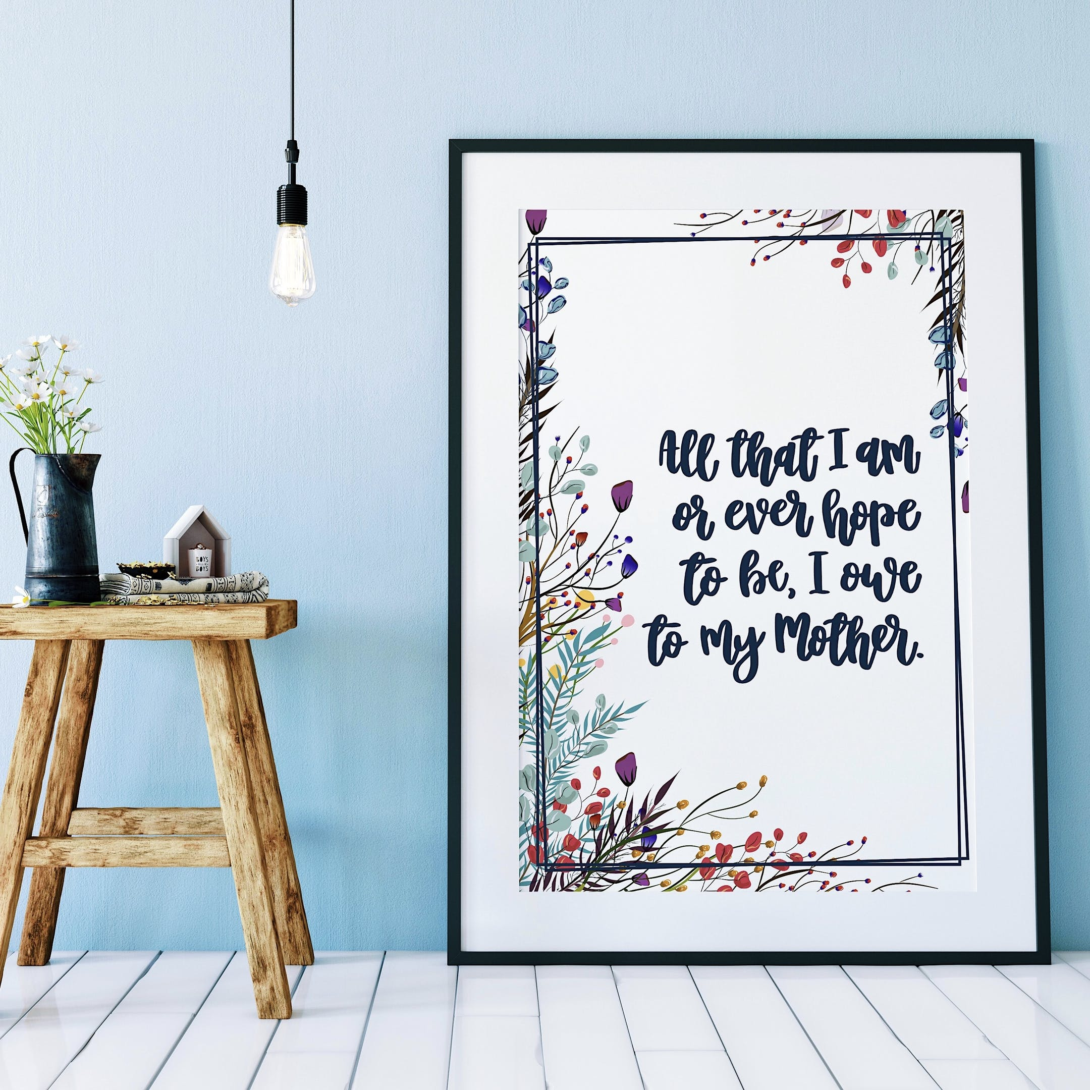 All That I Am - Floral Print - Izzy and Pop