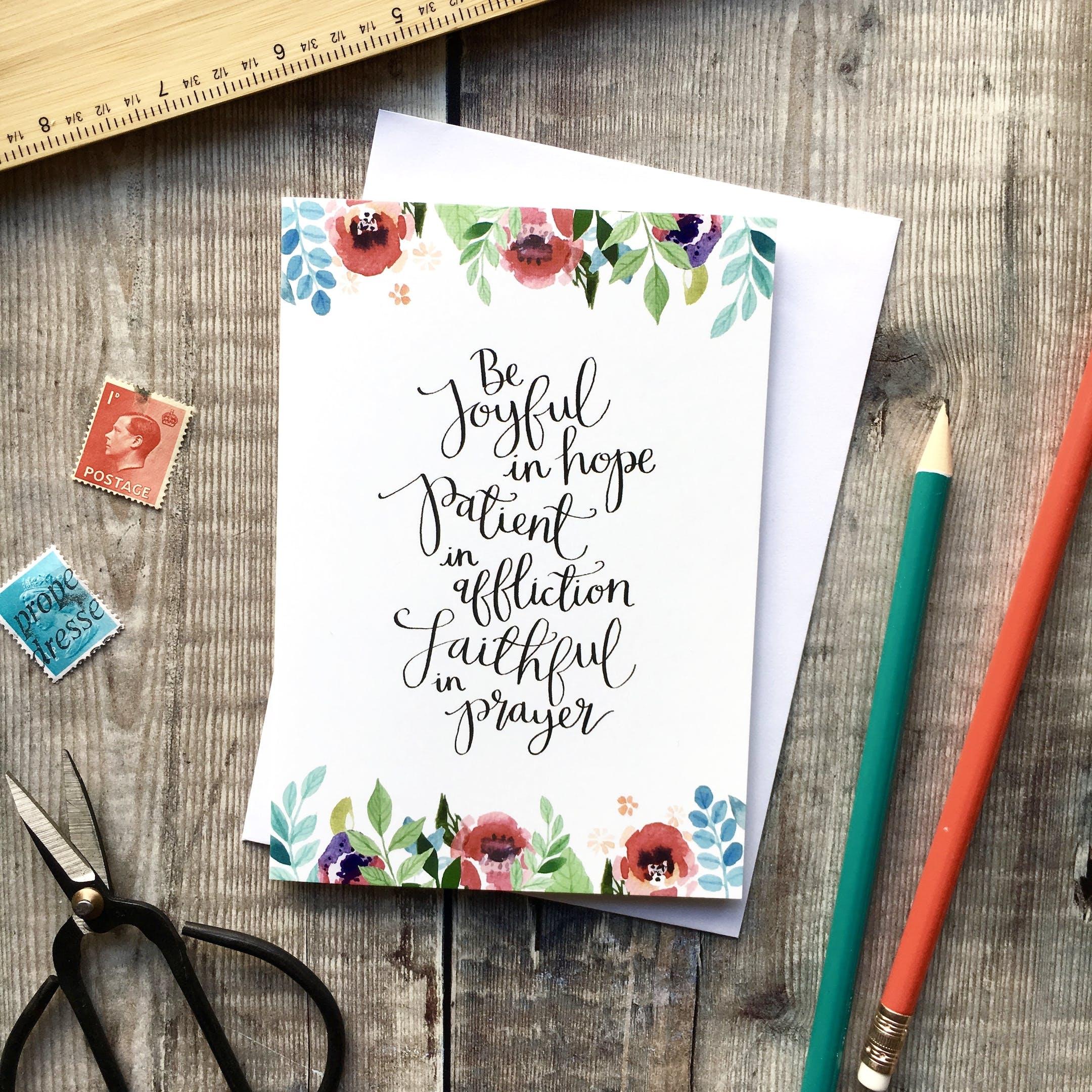 Be Joyful In Hope Romans 12:12 Card - Izzy and Pop