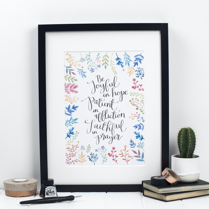 Be Joyful in Hope Print - Romans 12:12
