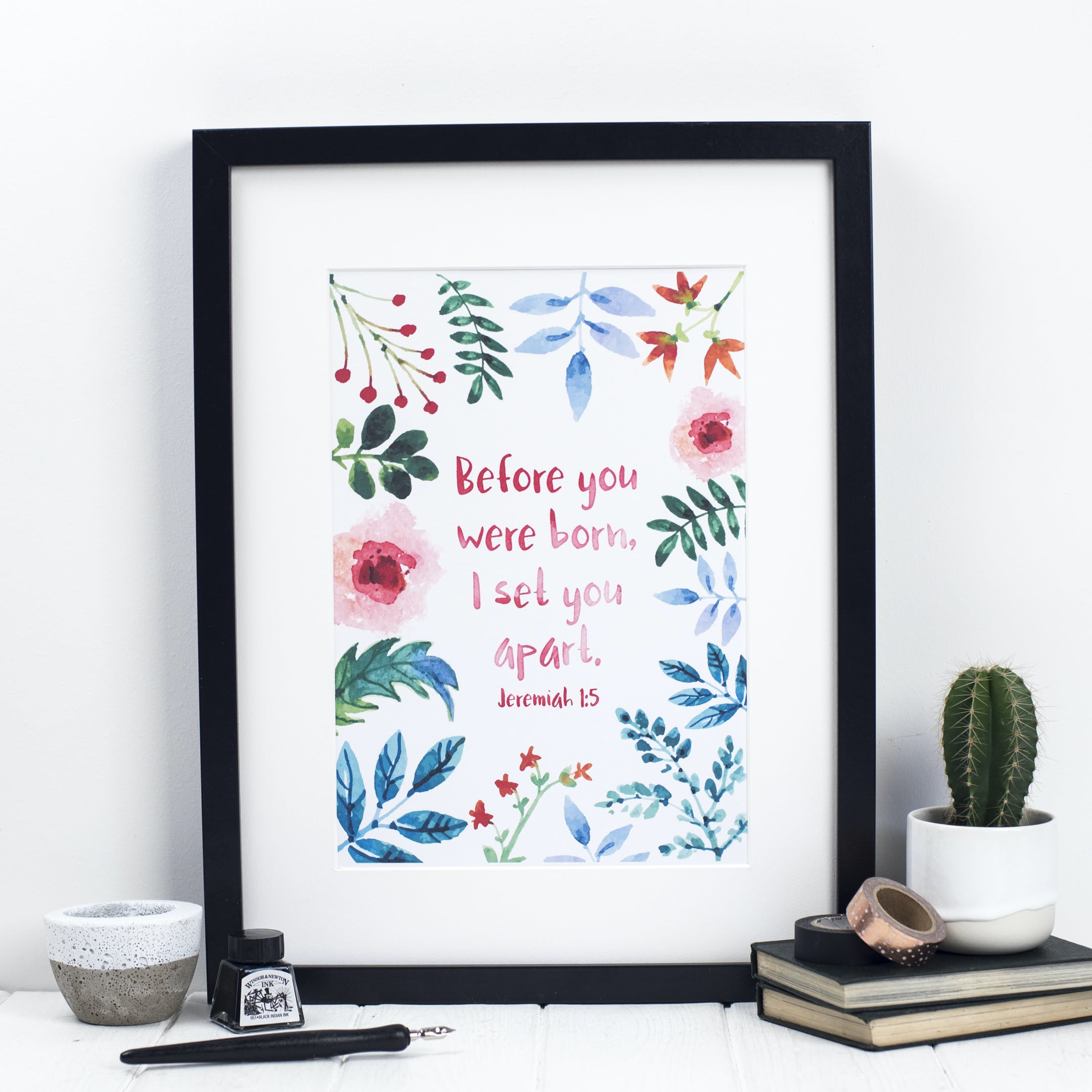 Before You Were Born I Set You Apart Print - Jeremiah 1:5 - Izzy and Pop