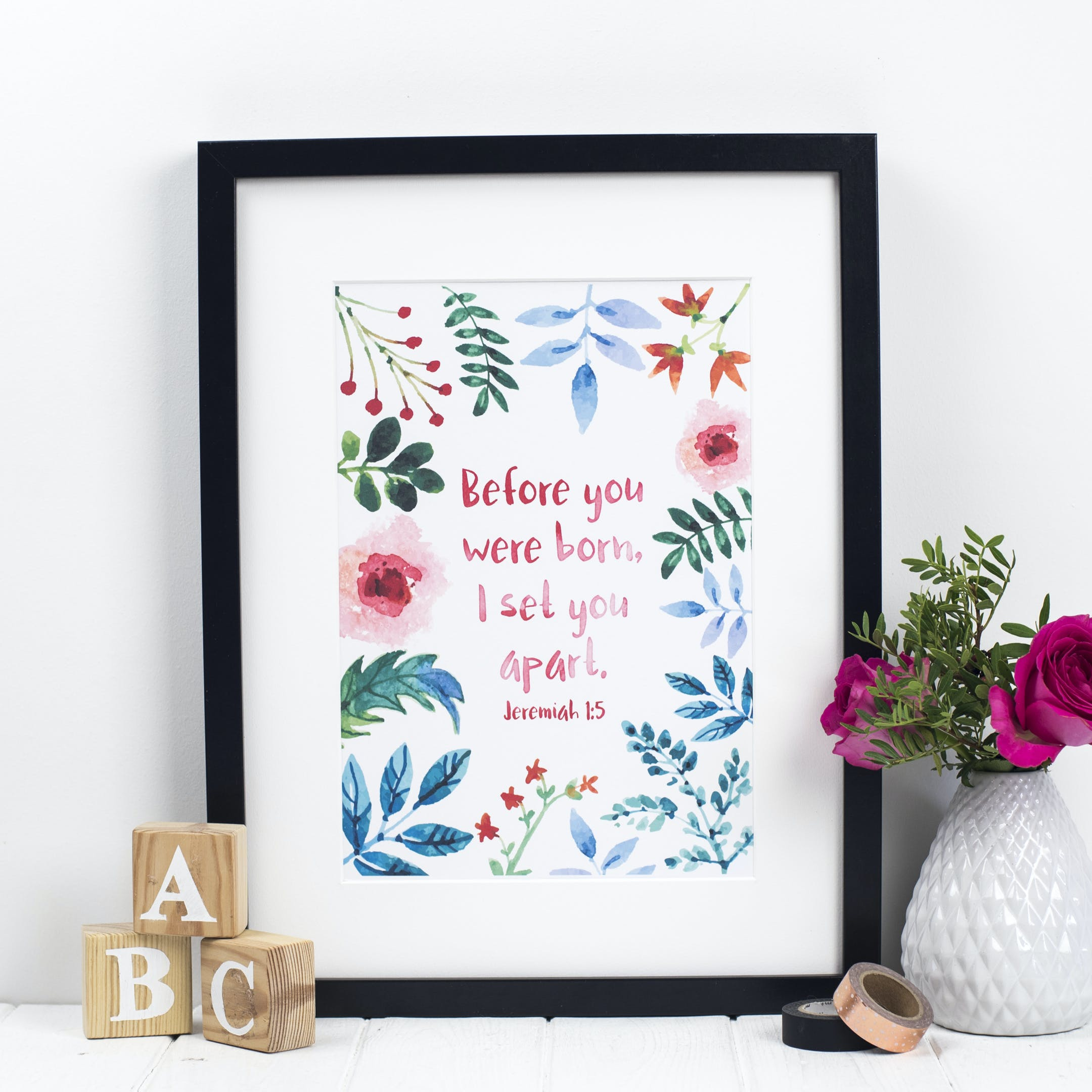 Before You Were Born - Jeremiah 1:5 Print - Izzy and Pop