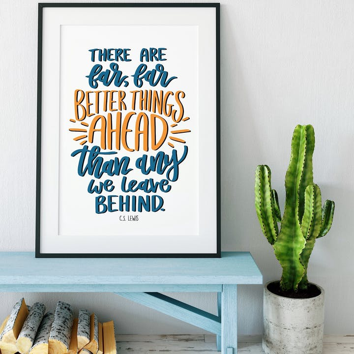 Better Things Ahead - C.S. Lewis Print - Izzy and Pop