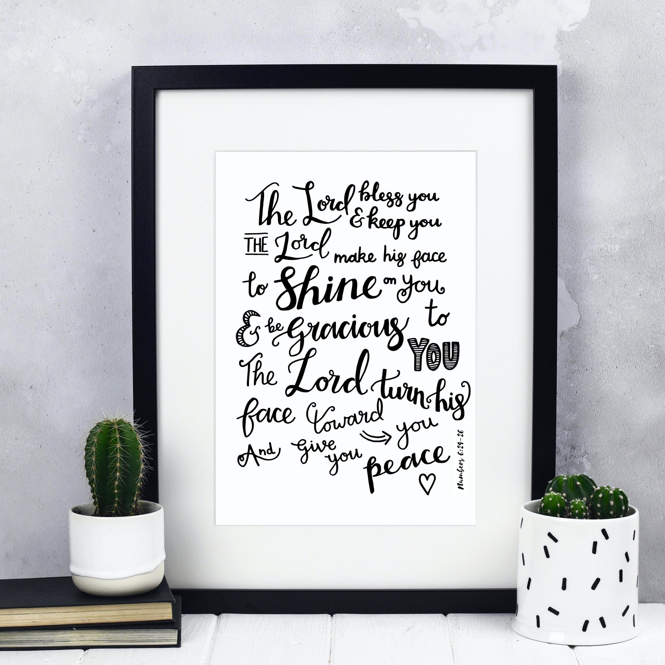 Black Izzy and Pop Print - The Lord Bless You And Keep You - Numbers 6:24-26